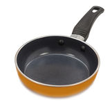 Nonstick coated frying pan on white background Stock Photo
