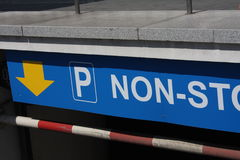 Nonstop All Day Open Parking Sign. Stock Images