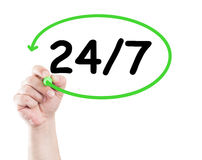 247 or nonstop Stock Photography