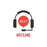 Nonstop hotline support with headphones Stock Photos