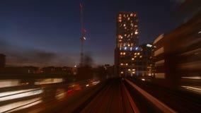 Nonstop POV Hyperlapse Night Train Journey in London UK