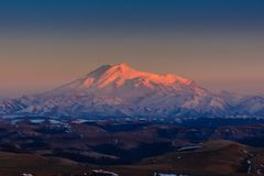Nonte Elbrus - il più alto picco in Europa Fotografia Stock