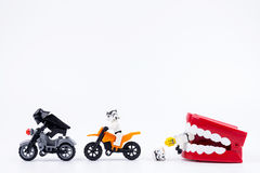 Nonthabure, Thailand - Mei, 17, 2017: Lego Darth Vader en Lego Stock Fotografie