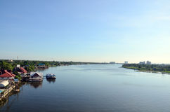 Nonthaburi的泰国昭披耶河 库存照片