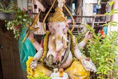 Nonthaburi,泰国- 2017年6月, 11日:在酸值Kre的Ganesh雕象 免版税库存图片