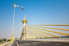 Nonthaburi της Maha Chesadabodindranusorn Bridge, Ταϊλάνδη στοκ εικόνα