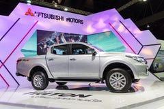 NONTHABURI - 12月8日:三菱新的氚核2014年汽车 图库摄影