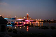 Nonthaburi Bridge. At Nonthaburi Province, Nonthaburi, Thailand Stock Photo