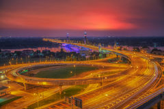 Nonthaburi bridge Royalty Free Stock Photos