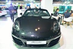 NONTHABURI - 1º DE DEZEMBRO: Exposição do carro de Porsche Boxster em Tailândia Fotografia de Stock