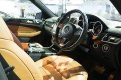 NONTHABURI - 23 DE MARZO: Diseño interior del NUEVO Benz GLS 3 de Meredes Imagen de archivo