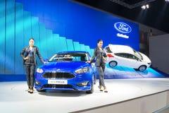 NONTHABURI - 23 DE MARZO: NUEVO foco 2016 de Ford en la exhibición en el 37t Imagen de archivo