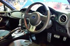 NONTHABURI - 1 DECEMBER: Binnenlands ontwerp van Subaru BRZ 2 0 auto D Stock Afbeelding