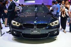NONTHABURI - DECEMBER 1: BMW 428I Gran Coupe car display at Thai Stock Images