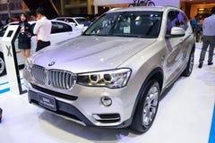 NONTHABURI - DECEMBER 1: BMW X3 xdrive 20d SUV car display at Th Royalty Free Stock Photos