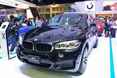 NONTHABURI - DECEMBER 1: BMW X6 xdrive 30d SUV car display Stock Photos