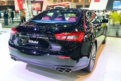 NONTHABURI - 1 DECEMBER: De autovertoning van Maserati Ghibli in Thailand Stock Afbeeldingen