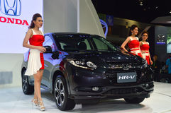 NONTHABURI - DECEMBER 06: Honda HR-V car on display at Thailand Stock Photo