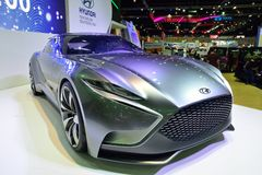 NONTHABURI - 1 DECEMBER: Hyundai hnd-9 de vertoning van de conceptenauto bij Th Stock Fotografie