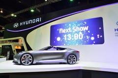 NONTHABURI - 1 DECEMBER: Hyundai hnd-9 de vertoning van de conceptenauto bij Th Royalty-vrije Stock Foto