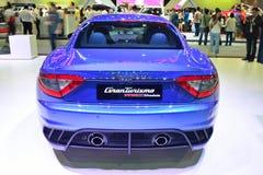 NONTHABURI - DECEMBER 1: Maserati Granturismo bilskärm på Tha Royaltyfri Bild