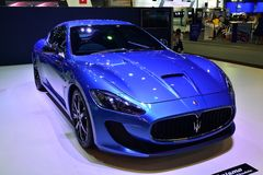 NONTHABURI - DECEMBER 1: Maserati Granturismo car display at Tha Stock Photography