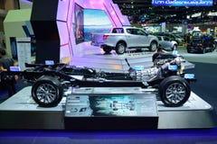 NONTHABURI - 1 DECEMBER: Naakt of breng Mitsubishi Nieuw Triton aan het licht Royalty-vrije Stock Foto