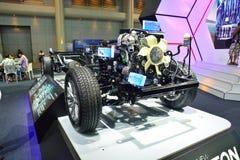 NONTHABURI - DECEMBER 1: Naked or uncover Mitsubishi New Triton. 2014 car display at Thailand International Motor Expo on December 1, 2014 in Nonthaburi Stock Image