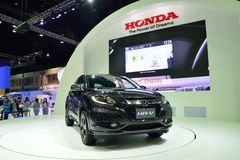 NONTHABURI - DECEMBER 1: New Honda HR-V car display at Thailand Royalty Free Stock Images