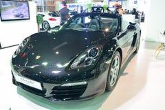 NONTHABURI - DECEMBER 1: Porsche Boxster bilskärm på Thailand Royaltyfria Bilder