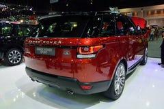 NONTHABURI - DECEMBER 1: Range Rover Sport car display at Thaila Royalty Free Stock Photos