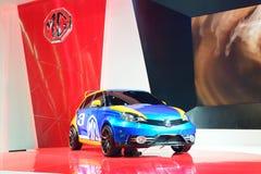 NONTHABURI - DECEMBER 1: Skärm för bil MG 3 för special upplaga på Tha Arkivfoton
