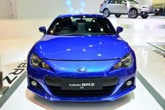 NONTHABURI - DECEMBER 1: Subaru BRZ 2.0 car display at Thailand Royalty Free Stock Photo