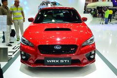 NONTHABURI - DECEMBER 1: Subaru WRX STI car display at Thailand Stock Images