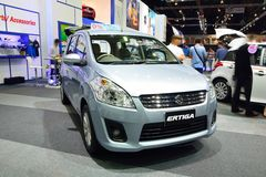 NONTHABURI - DECEMBER 1: Suzuki Ertiga car display at Thailand I Royalty Free Stock Photo