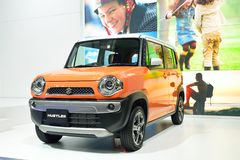 NONTHABURI - 1 DECEMBER: Suzuki Hustler-autovertoning in Thailand Royalty-vrije Stock Afbeeldingen