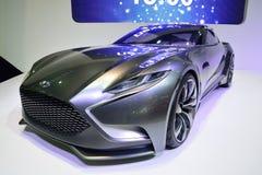 NONTHABURI - 1° DICEMBRE: Esposizione dell'automobile di concetto di Hyundai HND-9 a Th Immagini Stock