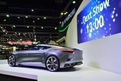 NONTHABURI - 1° DICEMBRE: Esposizione dell'automobile di concetto di Hyundai HND-9 a Th Fotografia Stock Libera da Diritti