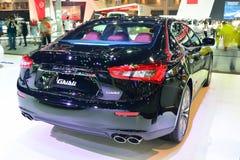 NONTHABURI - 1° DICEMBRE: Esposizione dell'automobile di Maserati Ghibli alla Tailandia Immagini Stock