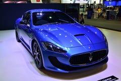 NONTHABURI - 1° DICEMBRE: Esposizione dell'automobile di Maserati Granturismo a Tha Fotografia Stock