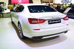 NONTHABURI - 1° DICEMBRE: Esposizione dell'automobile di Maserati Quattroporte a Th Immagine Stock Libera da Diritti