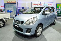 NONTHABURI - 1° DICEMBRE: Esposizione dell'automobile di Suzuki Ertiga alla Tailandia I Fotografia Stock