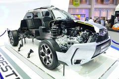 NONTHABURI - 1ER DÉCEMBRE : Coupe de section de Subaru Frorester 2 0 XT Photos stock