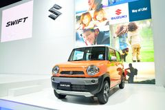 NONTHABURI - GRUDZIEŃ 1: Suzuki Hustler samochodowy pokaz przy Tajlandia Zdjęcie Stock