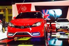 NONTHABURI - GRUDZIEŃ 06: MG samochód na pokazie przy Tajlandia Internat Obraz Royalty Free