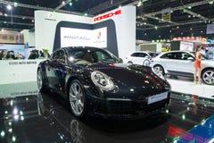 NONTHABURI - 23 MAART: Nieuw Porsche 911 Carrera S op vertoning bij T Royalty-vrije Stock Foto's