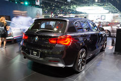 NONTHABURI - MARCH 23: Interior Design of NEW BMW 118i on displa Stock Photos