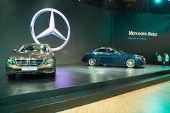 NONTHABURI - MARZEC 23: NOWY Mercedez Benz e 220 d na pokazie przy T Obrazy Royalty Free