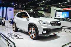 NONTHABURI - 23 MARZO: Concetto futuro di Subaru Viziv su esposizione a Fotografia Stock