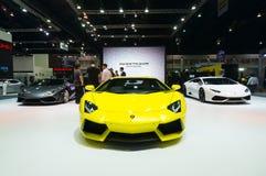 NONTHABURI - 23 MARZO: Lamborghini Aventador su esposizione ai 3 fotografie stock